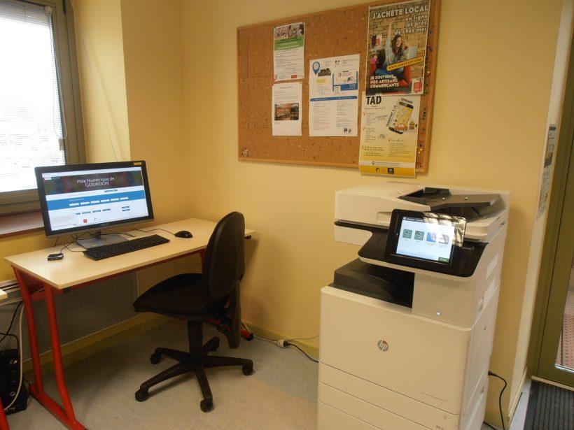 ordinateur, copieur PN GOURDON